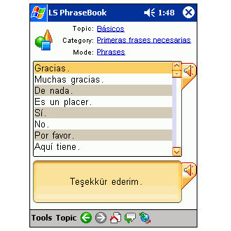 LingvoSoft Talking PhraseBook 2006 Spanish-Turkish