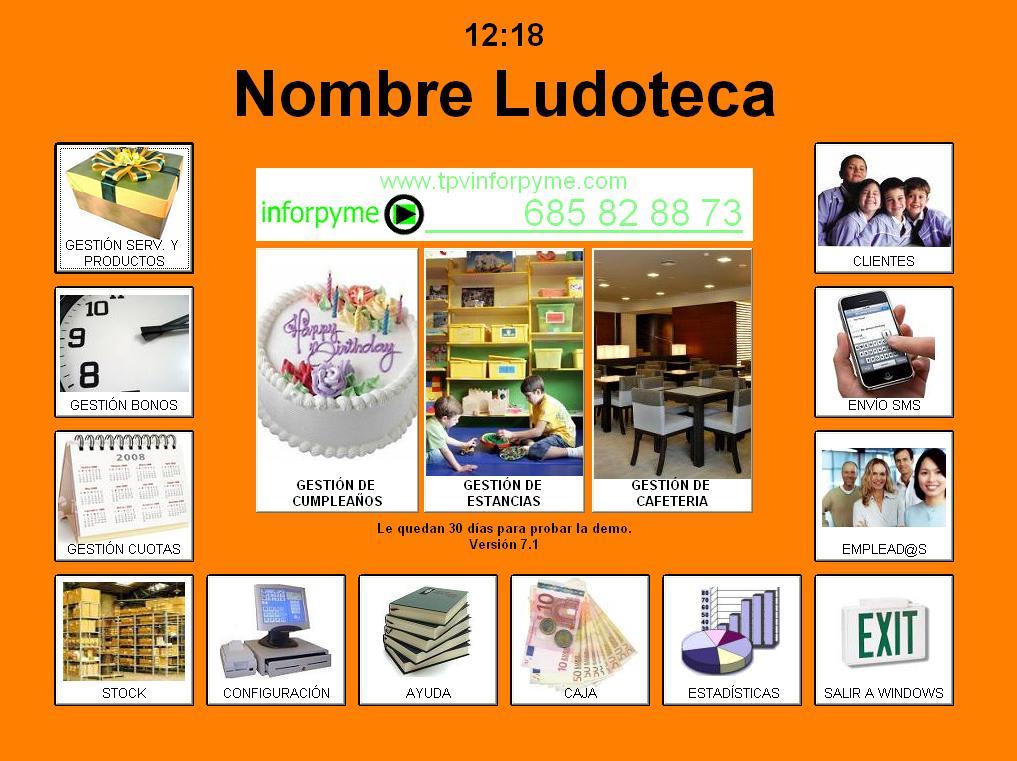 Programa TPVinforpyme Ludotecas Parques Infantiles