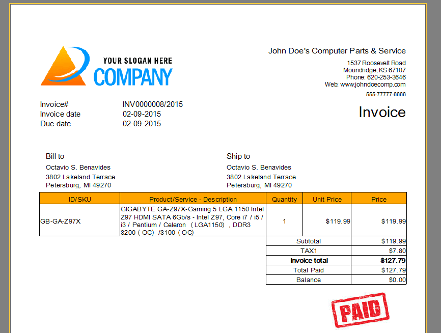 Free Invoice Maker Download - Printable invoice template free universal studios store online
