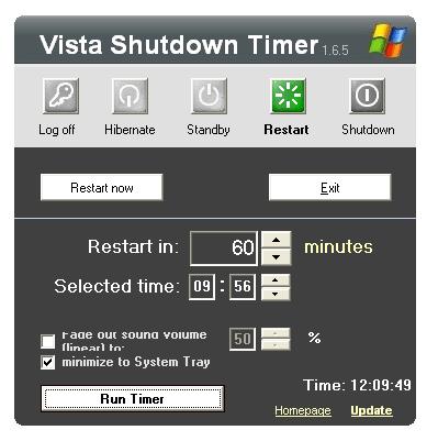 Vista Shutdown Timer