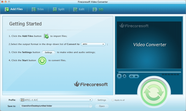 Firecoresoft Mac Video Converter