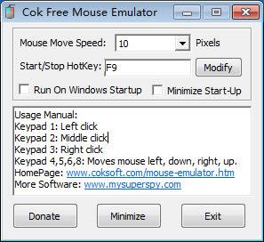 Cok Free Mouse Simulator