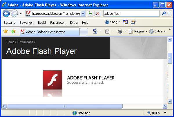 Get adobe flash player gratis