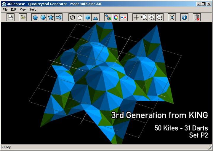 3DPenrose Quasicrystal Generator