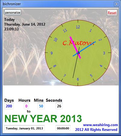 Bichronizer countdown