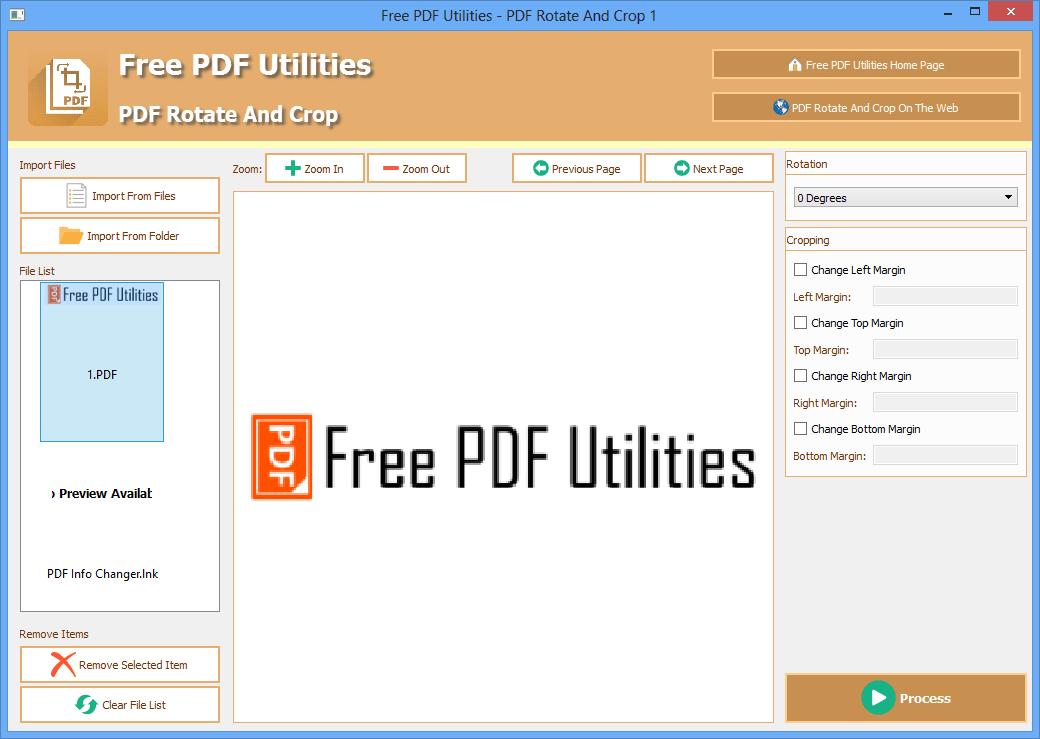 Free PDF Utilities - PDF Rotate and Crop