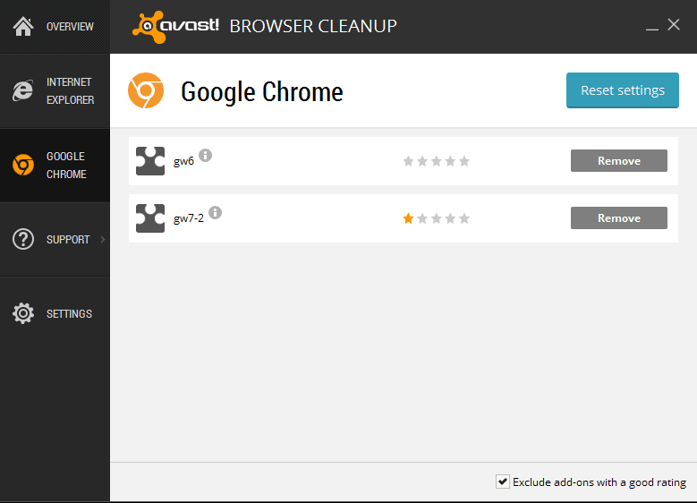 avast! Browser Cleanup