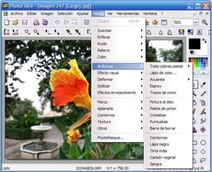 PhotoFiltre Español