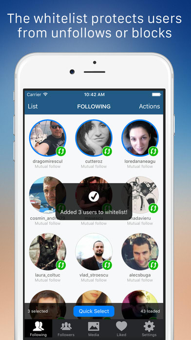 Cleaner for Instagram - Mass unfollow block tool