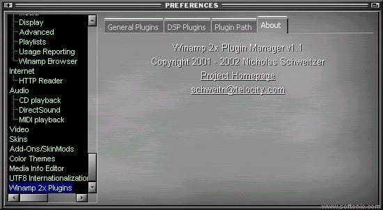 Winamp 2.x Plugin Manager for Winamp 3