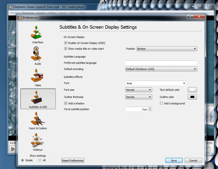 Vlc media player video tutorials tips and tricks subtitle settings ccuart Choice Image