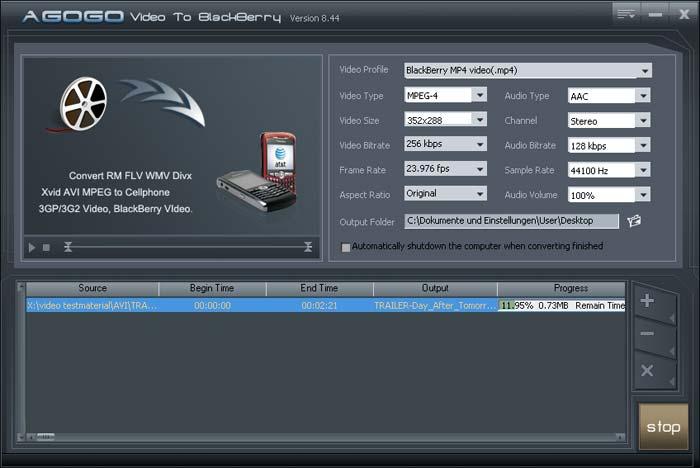 Agogo BlackBerry Video Converter