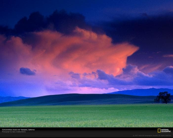 National Geographic Sunset Thunderstorm Wallpaper