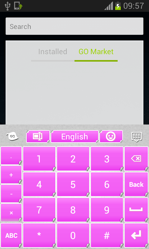 Pink Keyboard Stickers