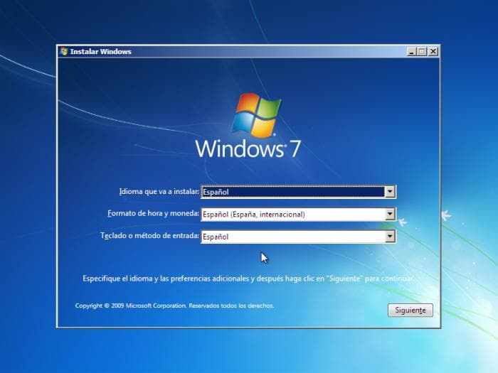 WINDOWS 7 - Instalación