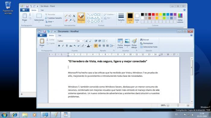 WINDOWS 7 - Wordpad y Paint