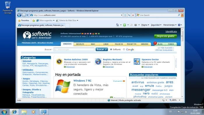 WINDOWS 7 - Internet Explorer