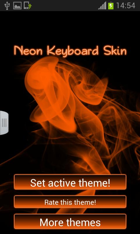 Keyboard Neon Skin Theme