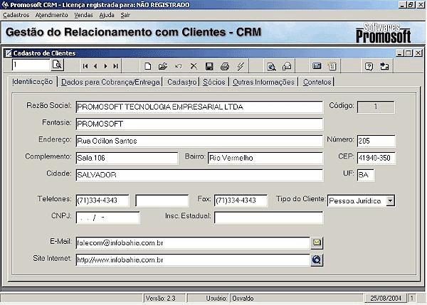 Gestão de Clientes CRM