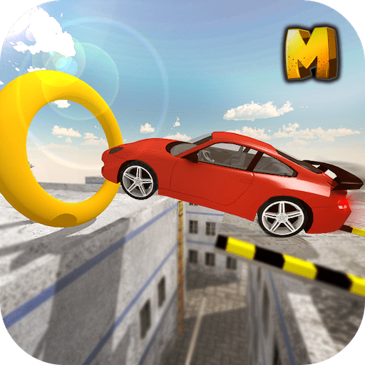 Crazy Roof Top Car Stunts 3D