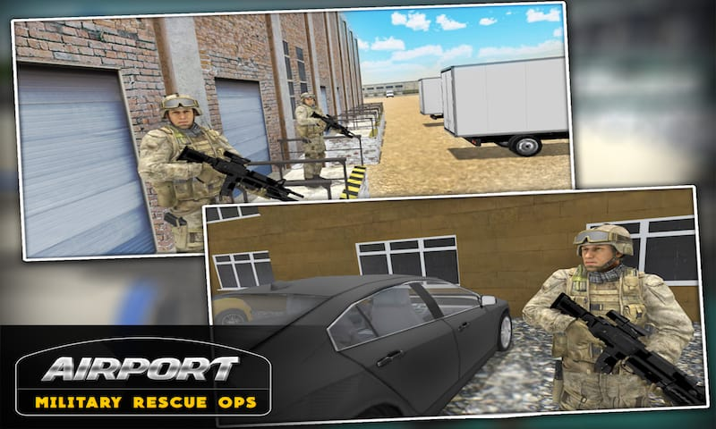 Airport Military Rescue Ops 3D