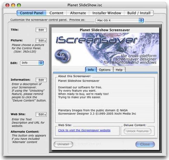 iScreensaver Designer
