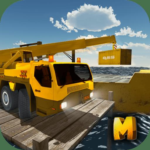 Heavy Cargo Crane Simulator 3D