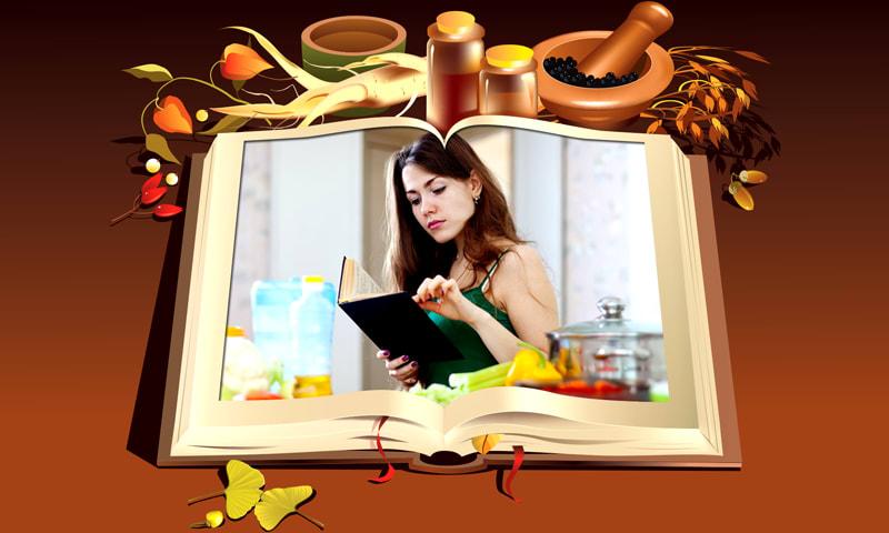 Cookbook Photo Frames