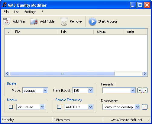 MP3 Quality Modifier