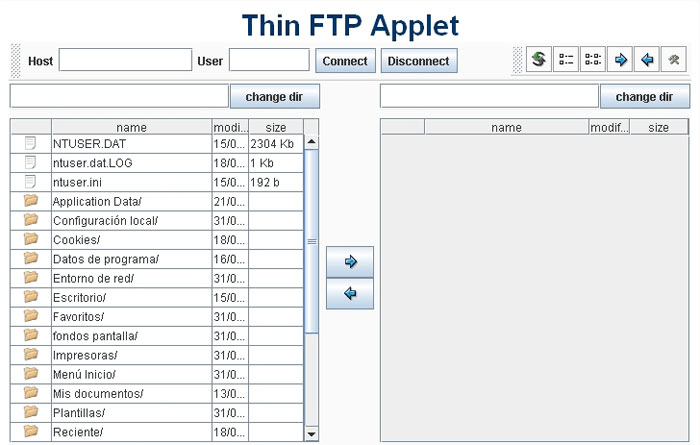 Thin FTP Applet