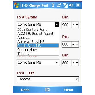 ING Change Font