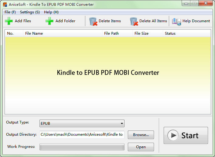 Kindle to EPUB PDF MOBI Converter