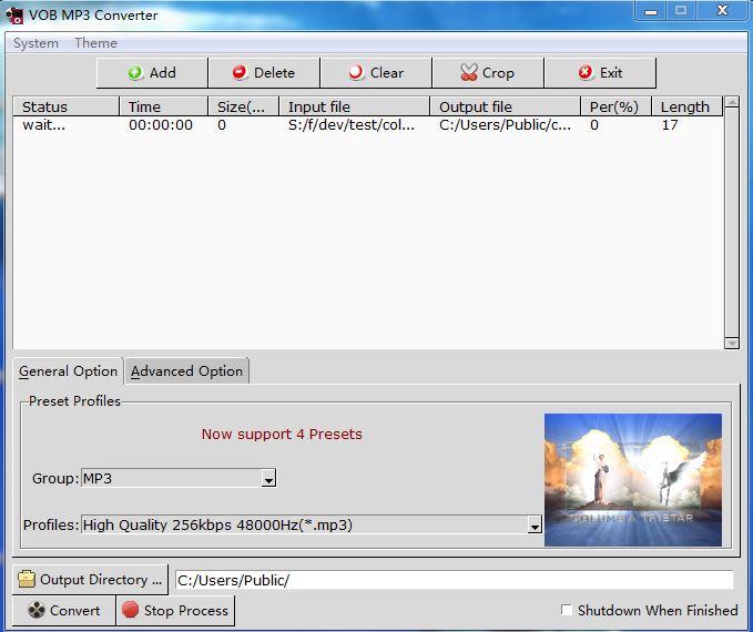 VOB MP3 Converter