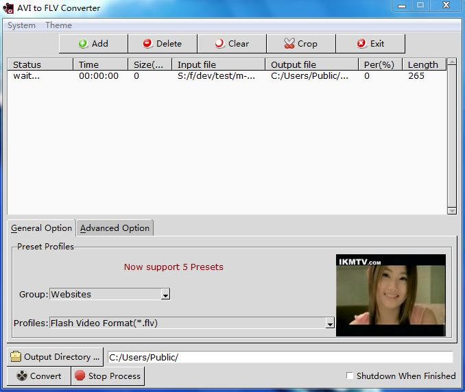 AVI to FLV Converter