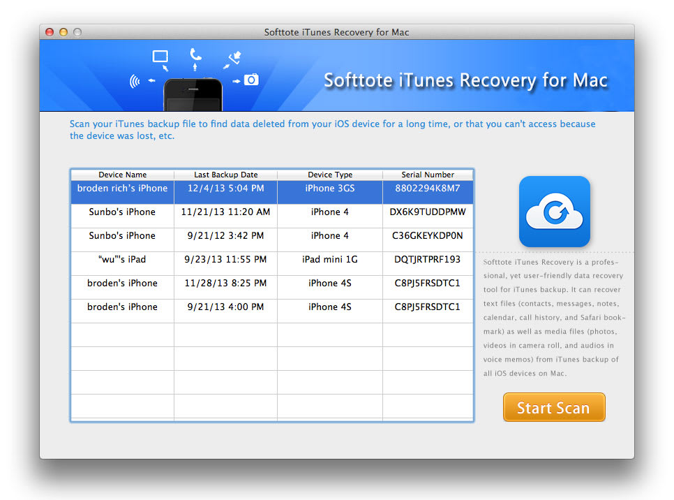 Softtote iTunes Recovery for Mac