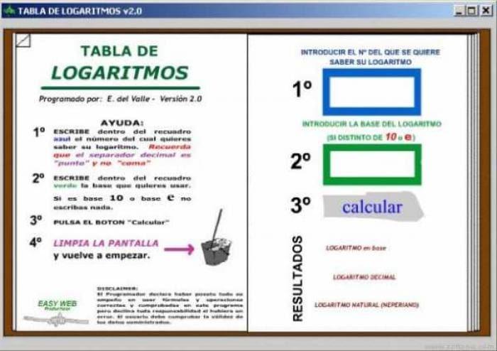 TABLA DE LOGARITMOS