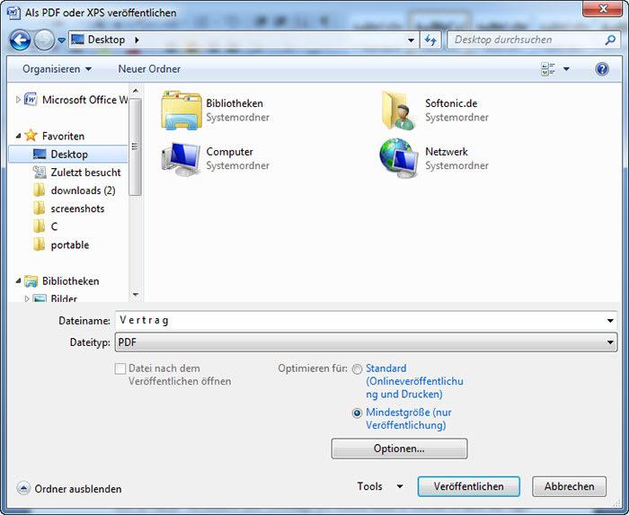 Guardar como – PDF o XPS