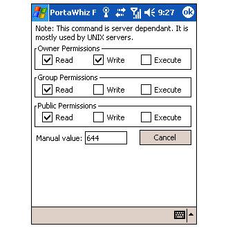 PortaWhiz FTP Client