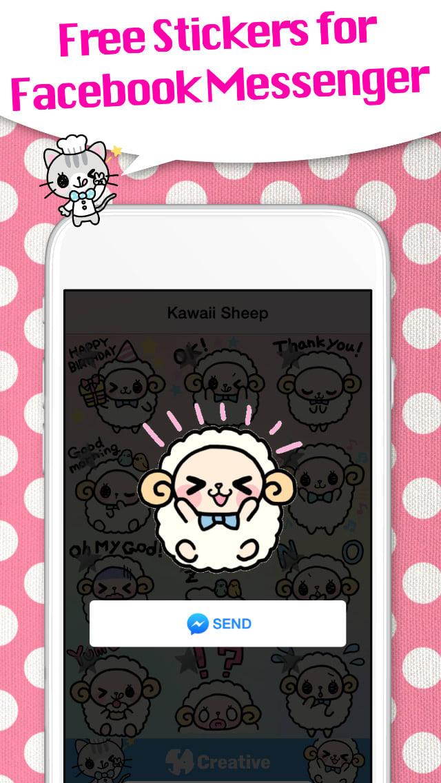Kawaii Stickers for Messenger