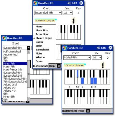 HandDee Electronic Organ & Piano Chords