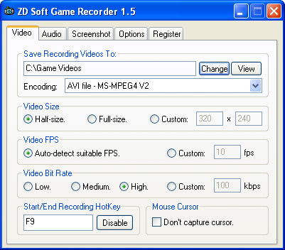 ZD Soft Game Recorder