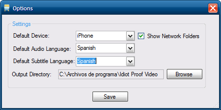 Idiot Proof Video Converter