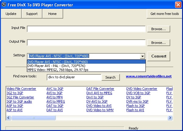 Free DivX to DVD Player Converter