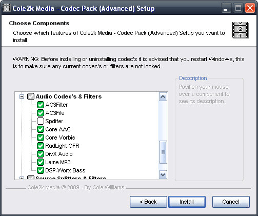 Cole2k Media - Codec Pack