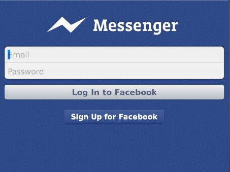 Facebook Messenger für BlackBerry