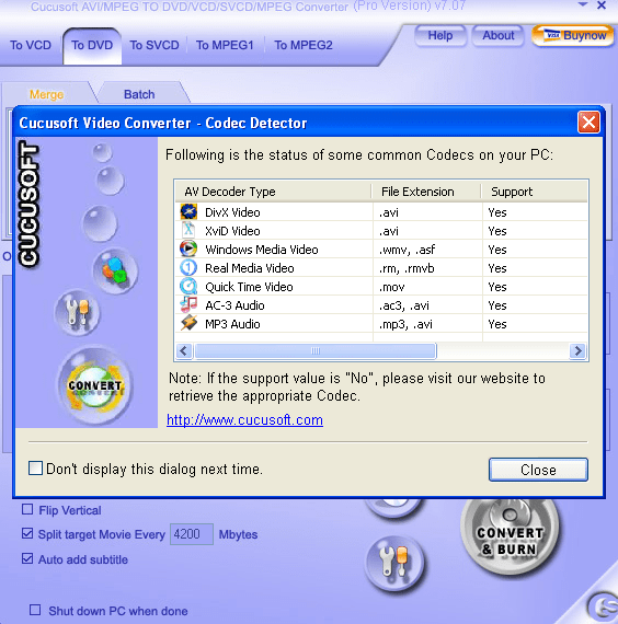Cucusoft MPEG/MOV/RMVB/DIVX/AVI to DVD/VCD/SVCD Pro