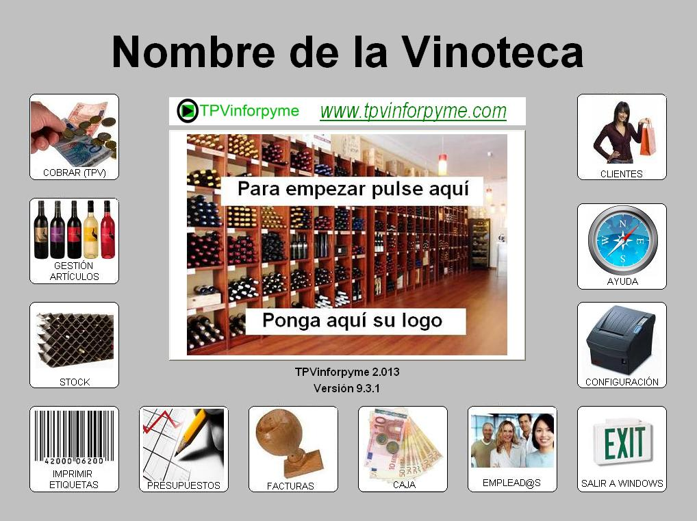 Programa para vinotecas y tiendas gourmet