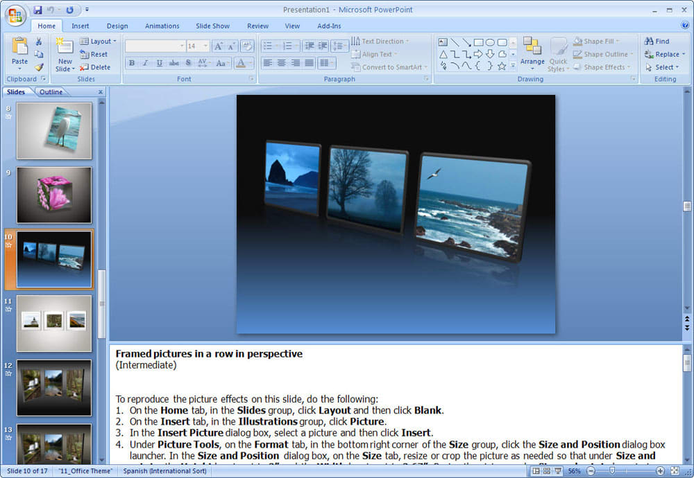Static Picture Effects for PowerPoint Slides