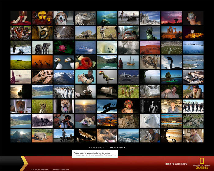 National Geographic Custom Screensaver