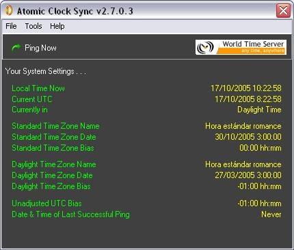 Atomic Clock Sync